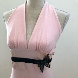 NEW Sweet Pink Halter W/Mesh Sequin Butterfly M